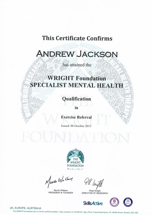 Personal Training Level 4 Specialist Mental Health Qualification